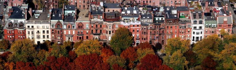 Back Bay Brownstones in Autumn _ Panorama
