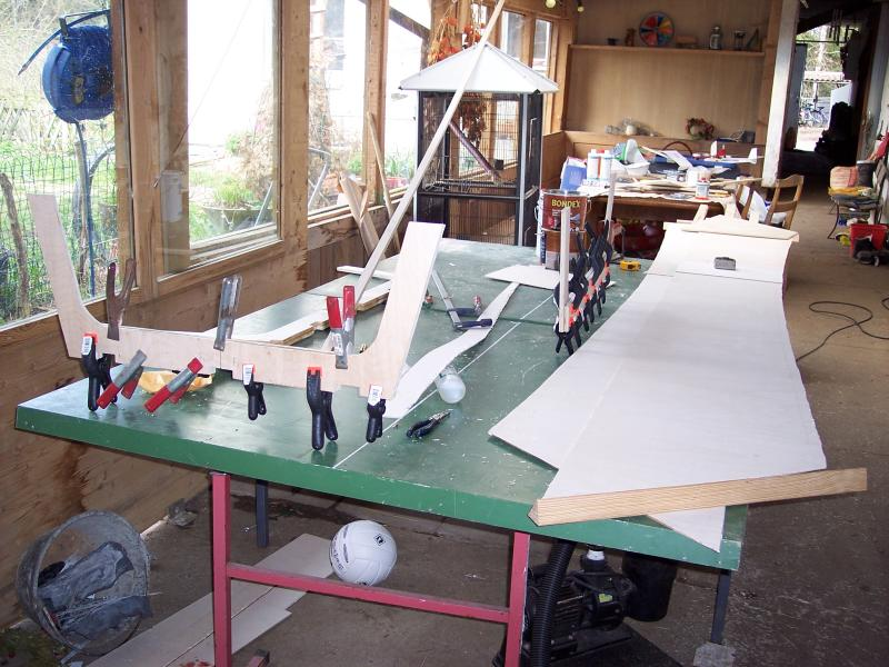 Row boat in the making