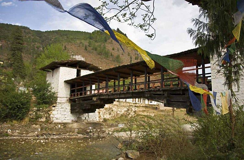 Covered Bridge leading to the Paro Dzong