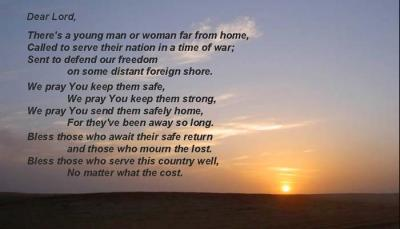 Prayer for our military personnel
