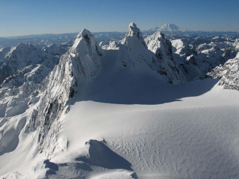 Chimney Rock, NW Face & Overcoat Glacier <br>(LemahChimney020906-79adj.jpg)
