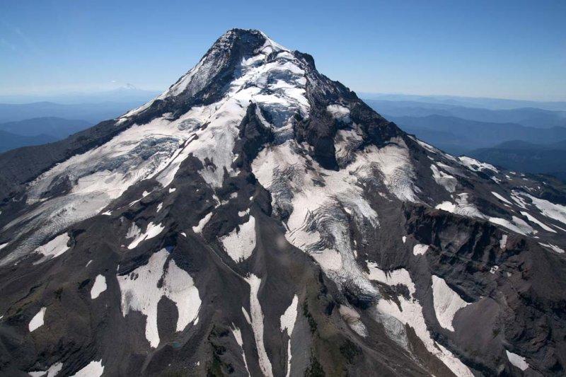 Hood:  Eliot, Langille, & Coe Glaciers  <br> (Hood082407-_014.jpg)
