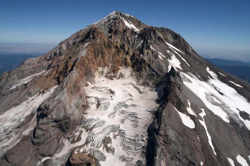 Hood, Upper W Face/Reid Glacier <br> (Hood082407-_052.jpg)