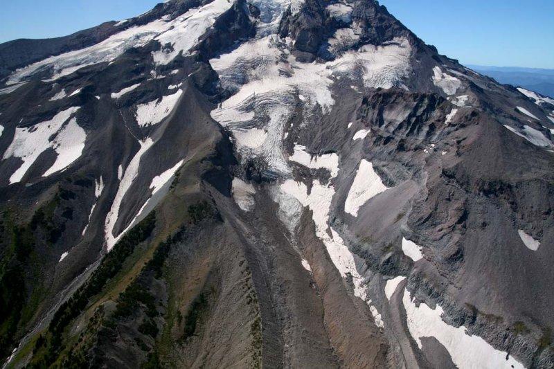 Hood:   Coe Glacier<br> (Hood082807-_082.jpg)