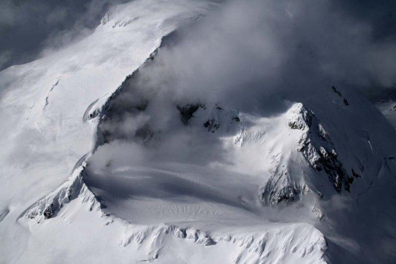 Snowmobile Tracks & Sherman Crater <br> (MtBaker042108-_053.jpg)