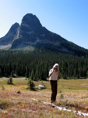 A Great Photographer In His Element:  Austin Post At Washington Pass Meadow
