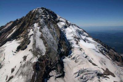 Hood, Upper Newton Clark Glacier (L) & Eliot Glacier <br> (Hood082407-_098.jpg)