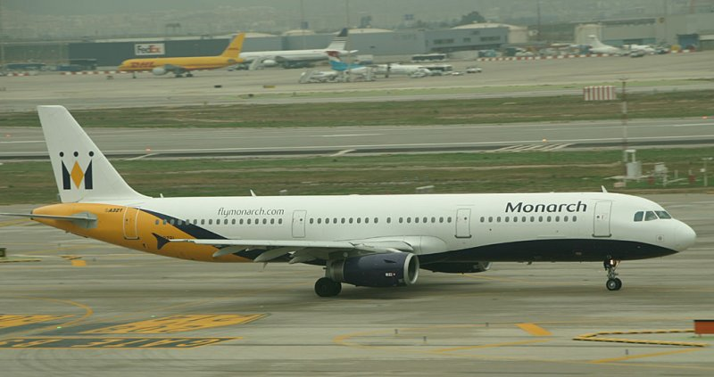 Monarch A-321 taxi for take off