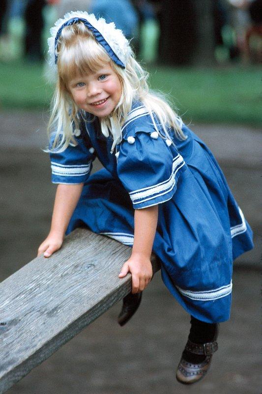 Girl on Seesaw - Greenfield Village, Detroit, MI - 1966