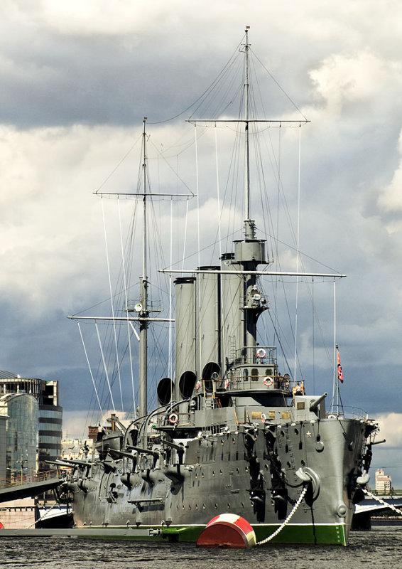 St Petersburg Warship