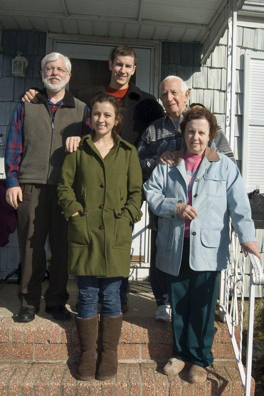 Nana, Grandpa, Amy,  Daniel,  and Joe