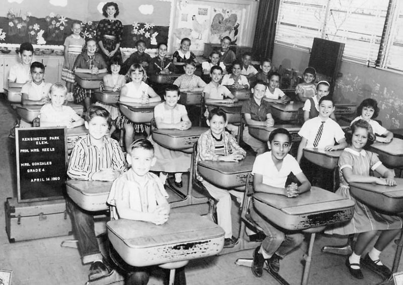 1960 - Mrs. Gonzales 4th grade class at Kensington Park Elementary School in Miami