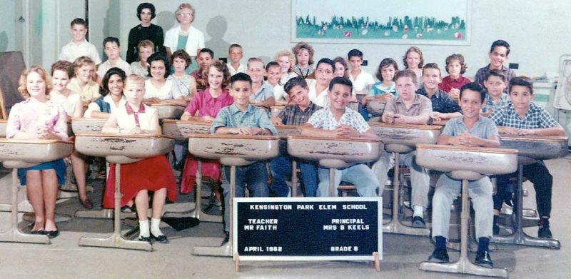 1962 - Mr. Faiths 6th grade class at Kensington Park Elementary School, Miami