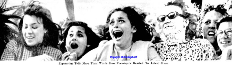 1964 - teen expressions while watching the Beatles arrive at Miami International Airport on February 13th