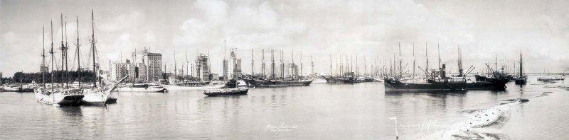 1925 - Biscayne Bay and City of Miami skyline