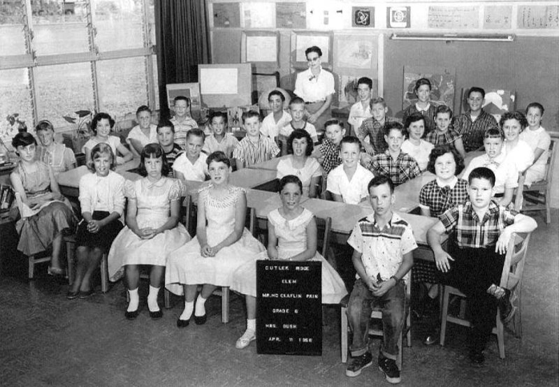 1958 - Mrs. Mildred M. Bushs 6th grade class at Cutler Ridge Elementary