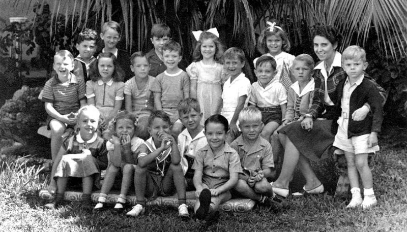 1941/1942 - Miss Bellands Kindergarten class at Morningside Elementary School in Miami