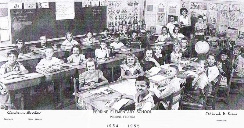 1955 - Barbara Boohers 3rd grade class at Perrine Elementary School (54-55)