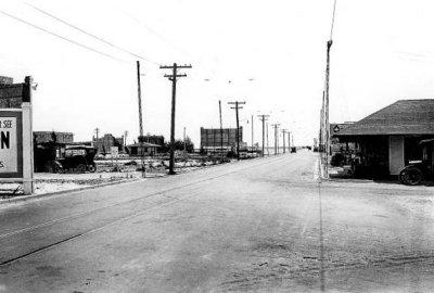 1921 - along the County Causeway from Miami to Miami Beach, Florida