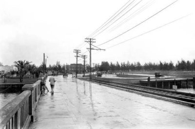 1921 - the east end of County Causeway at south Miami Beach
