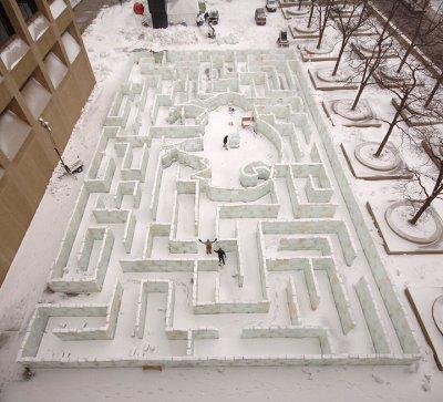 The Worlds Largest Ice Maze
