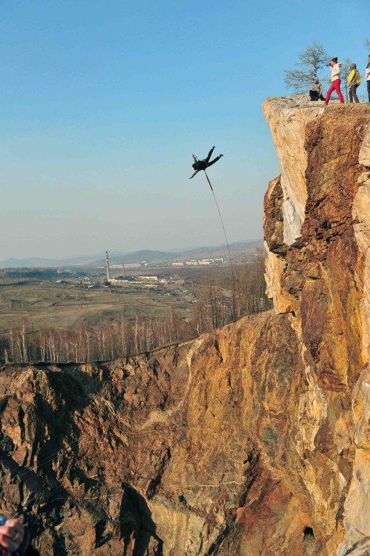 BASE jumping (Khakasia)