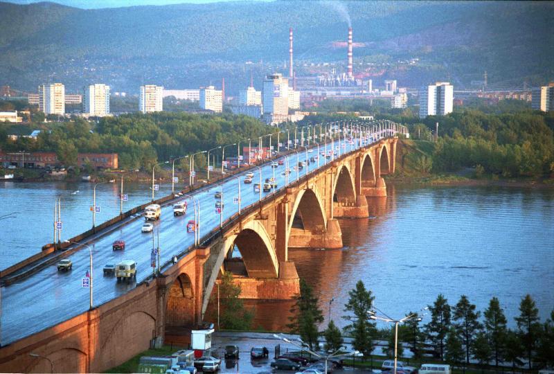 Bridge across the Yenisei River