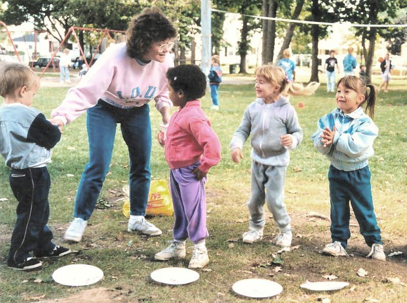 Terri & kids Labor Day 1988