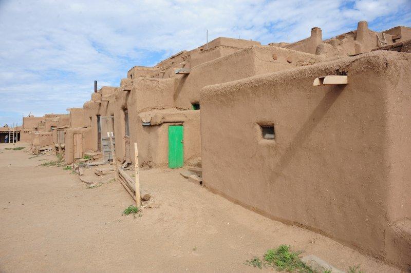Taos Pueblo with Green Door