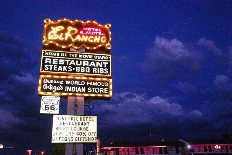 El Rancho Hotel Sign and Sky