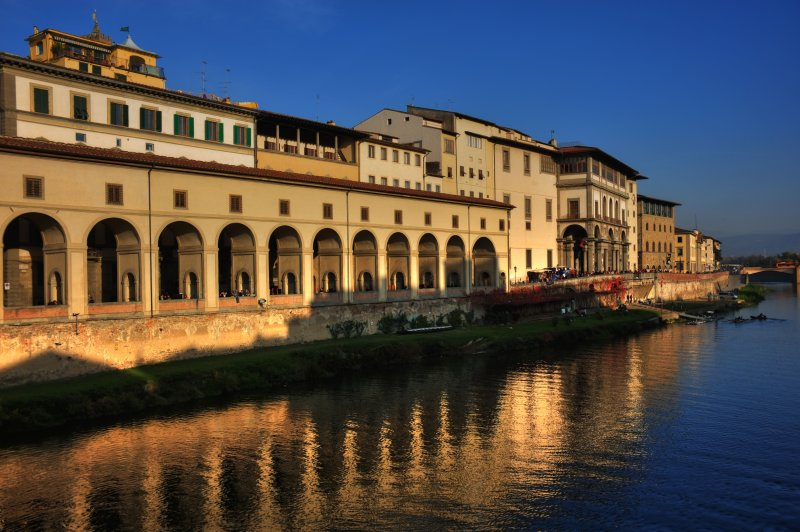 North Bank of the Arno from the Ponte Vecchio