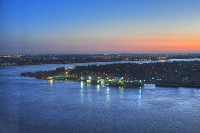 Dawn on the Mississippi