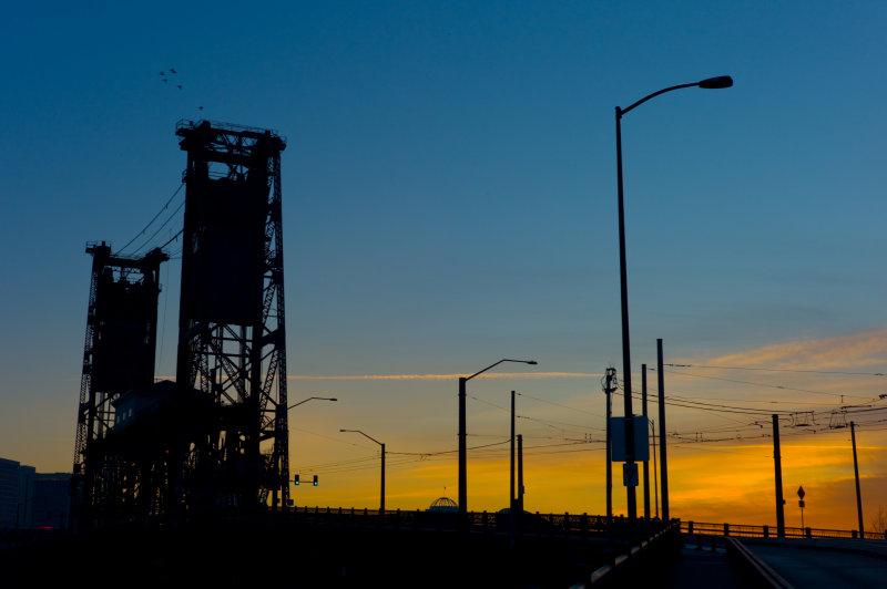 Steel Bridge at Dawn