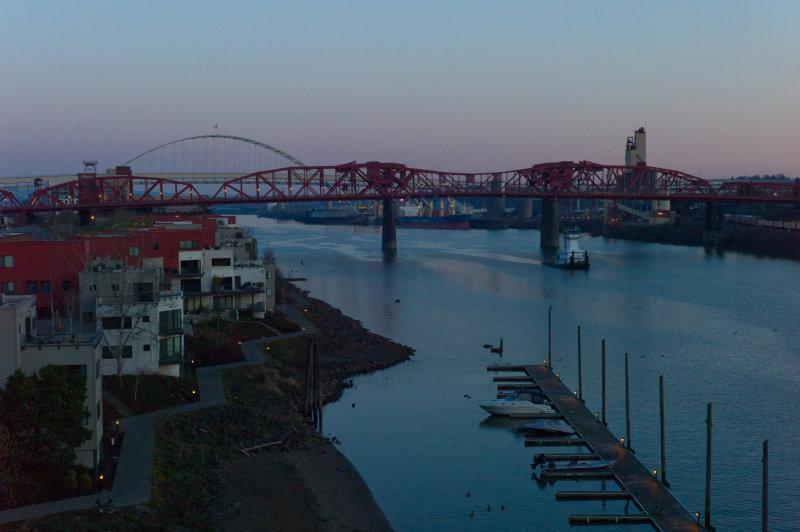 Broadway Bridge at Dawn