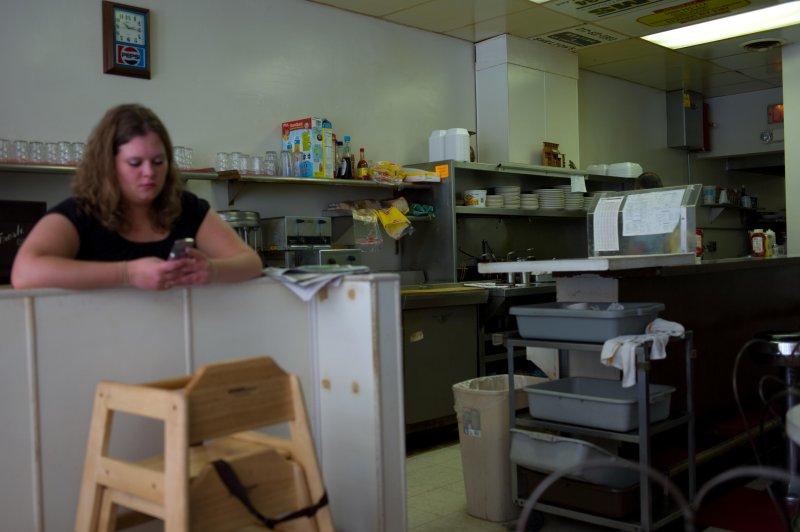 Waitress at Sams Cafe