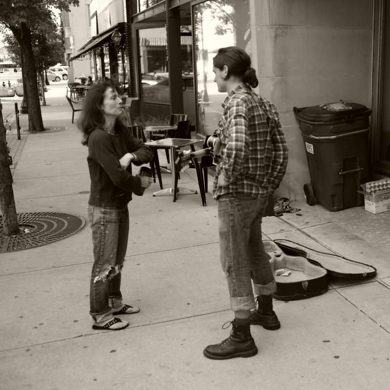 Talking Not Busking