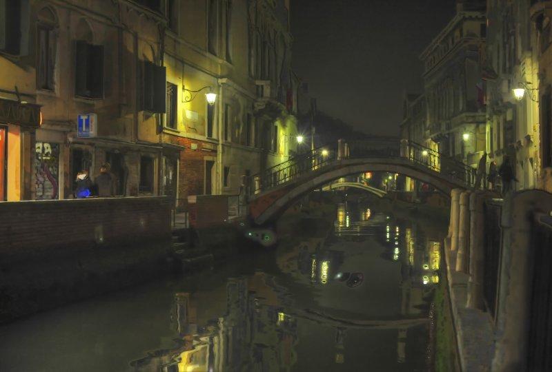 Dosoduro Canal at Night