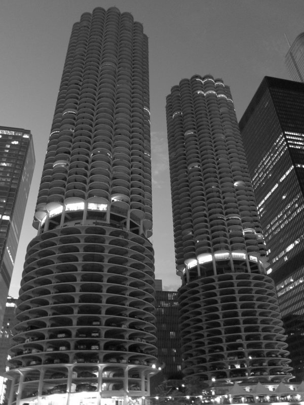 Marina Towers Black and White