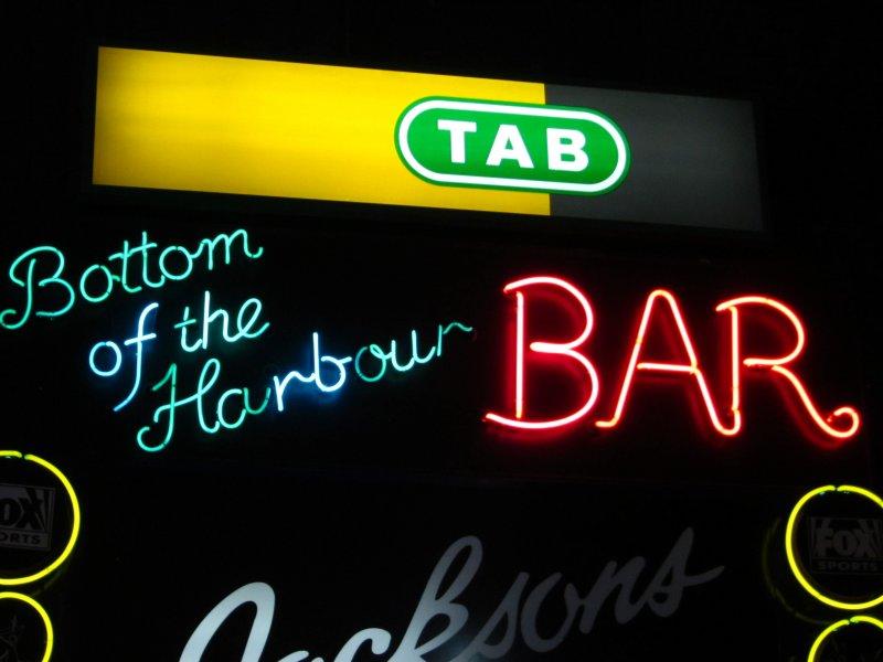 Sydney Bottom of the Harbour Bar Neon