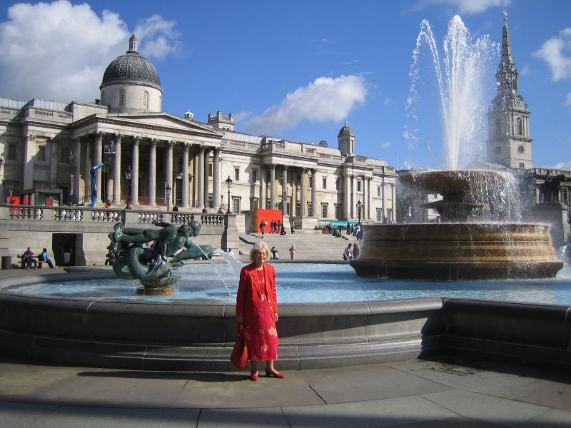 Pam in Trafalgar Square