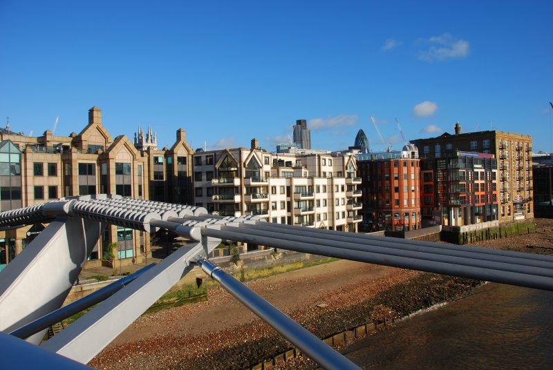 Millenium Bridge, View of the North Bank