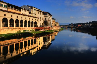 The Arno from the Ponte Vecchio