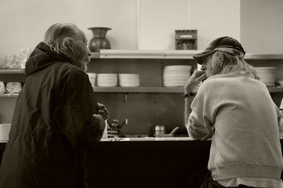 Two Gentlemen at Sams Cafe