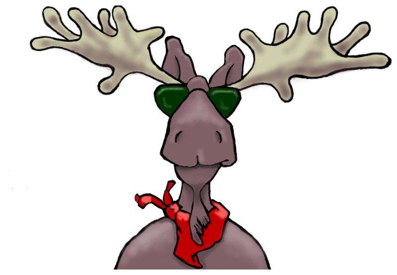 Mr. Mac the moose