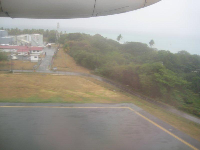 13 April - Rainy Day - Flying into Tobago