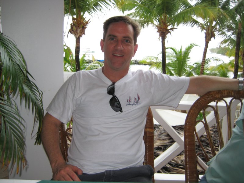 Me - at breakfast at the Coco Reef