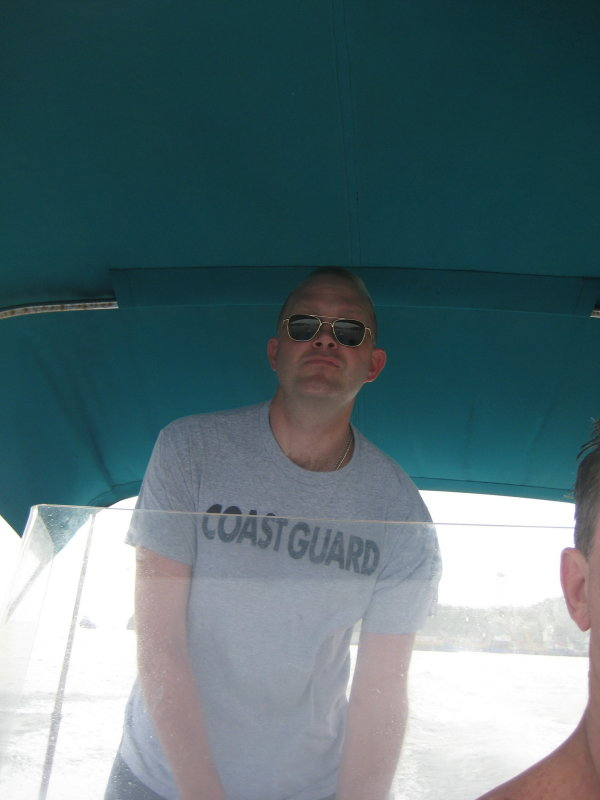 Chris on the Boat