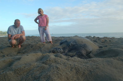 Chris and Lorie and Leatherback