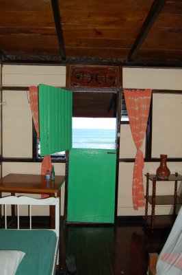 Looking out my door to the beach - Mt. Plaisir - Room 2