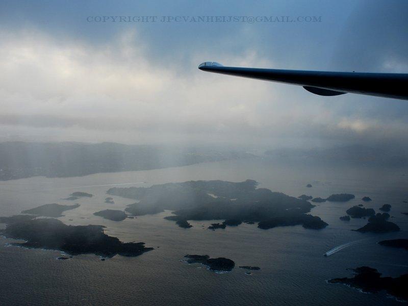 Rainshowers over the islands